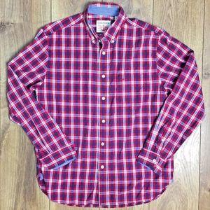 Dockers Mens Shirt Multi Color Checks Size Medium